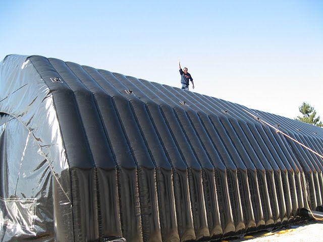 Arbeidstelt 195 m² Vises frem på Minimessen. Robust og ferdig isolert arbeidstelt på 195 m², monteres av 2 mann på 15 minutter.