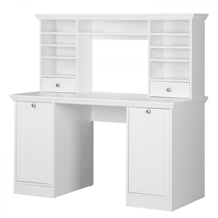 Schreibtischkombination Woodland - Weiß
