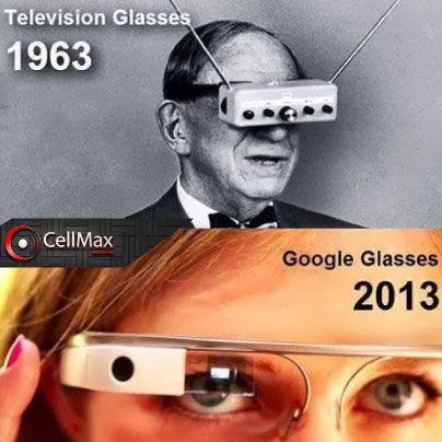 Google Glases... y su abuelo las gafas de televisión, en menos de 50 años.