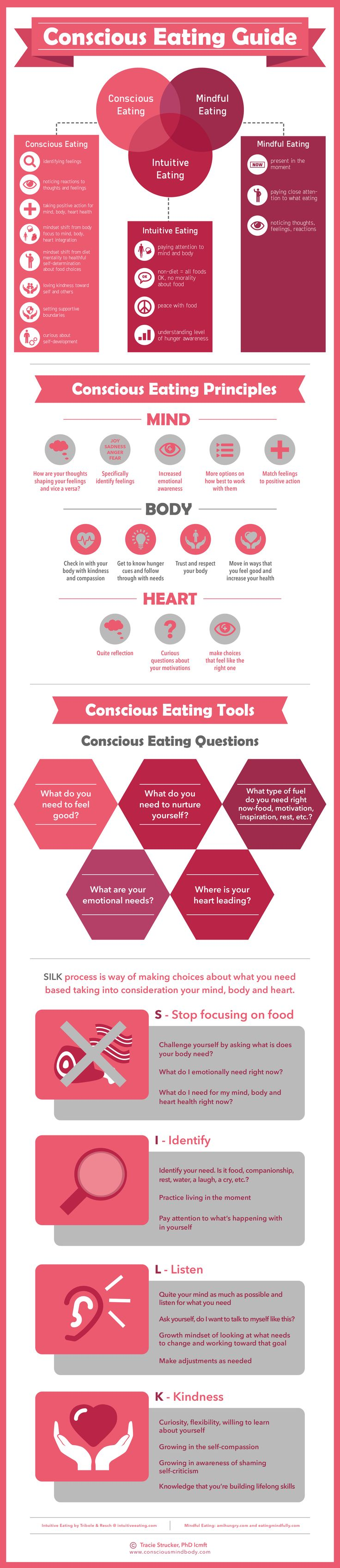 Conscious Eating stops mindless emotional eating in it's tracks! Learn how you can use Conscious Eating be feel good, leave food worries behind, feel good about your body and live your life at peace.