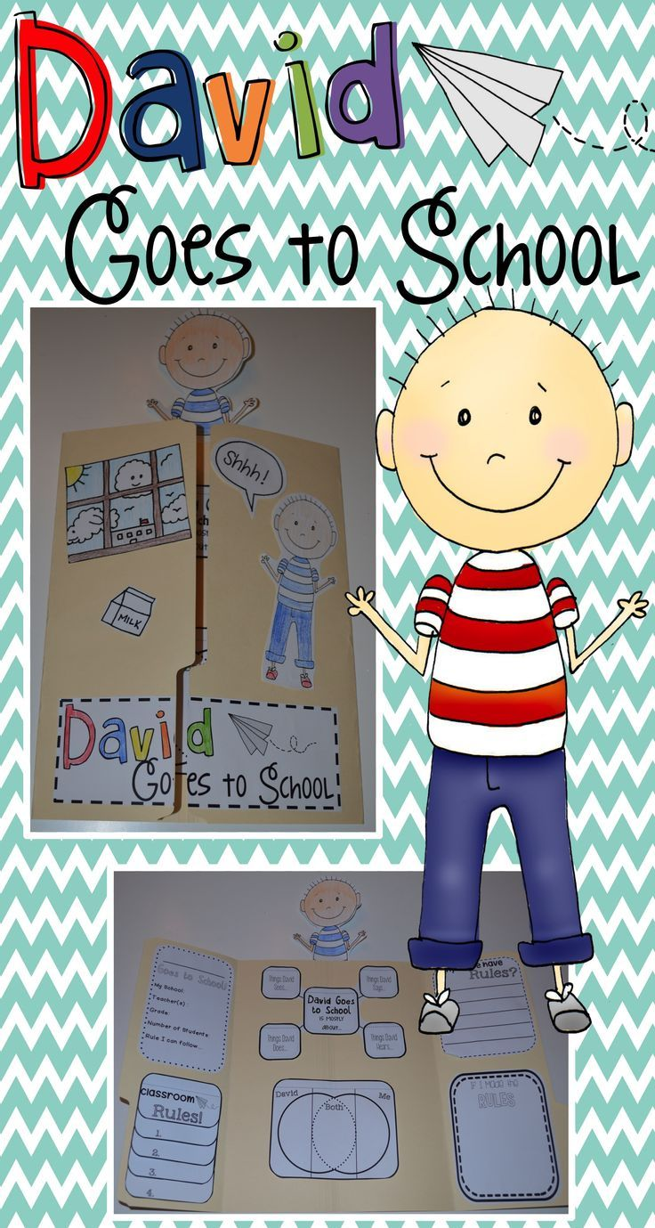 David Goes to School Lapbook activity is going to add so ...