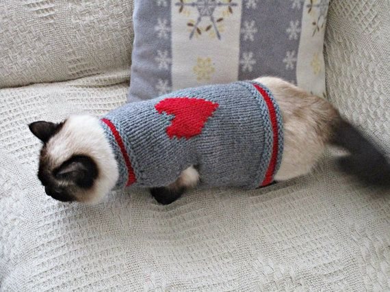 Cat dog jumper Sweater for cats or dogs Pets by IrinasSTRICKMODE