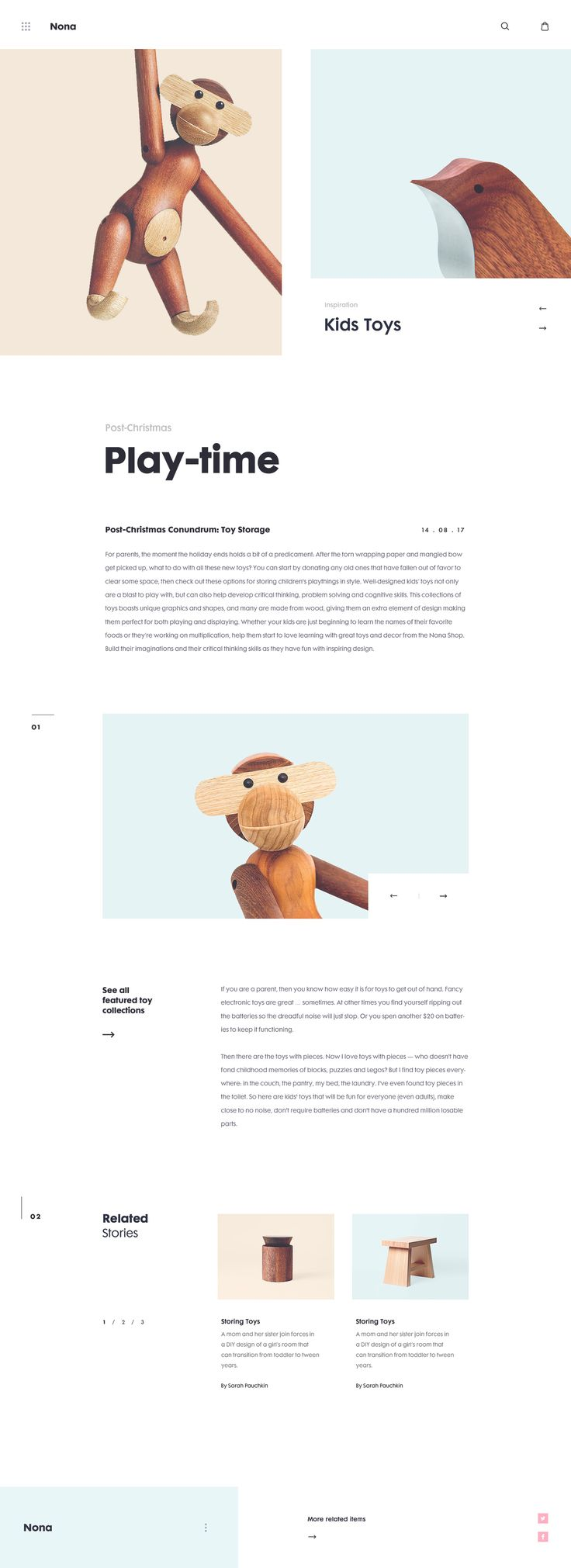 Nona Home E-commerce Website on Behance