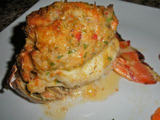 Shawna's Food and Recipe Blog: Crab Stuffed Lobster Tail