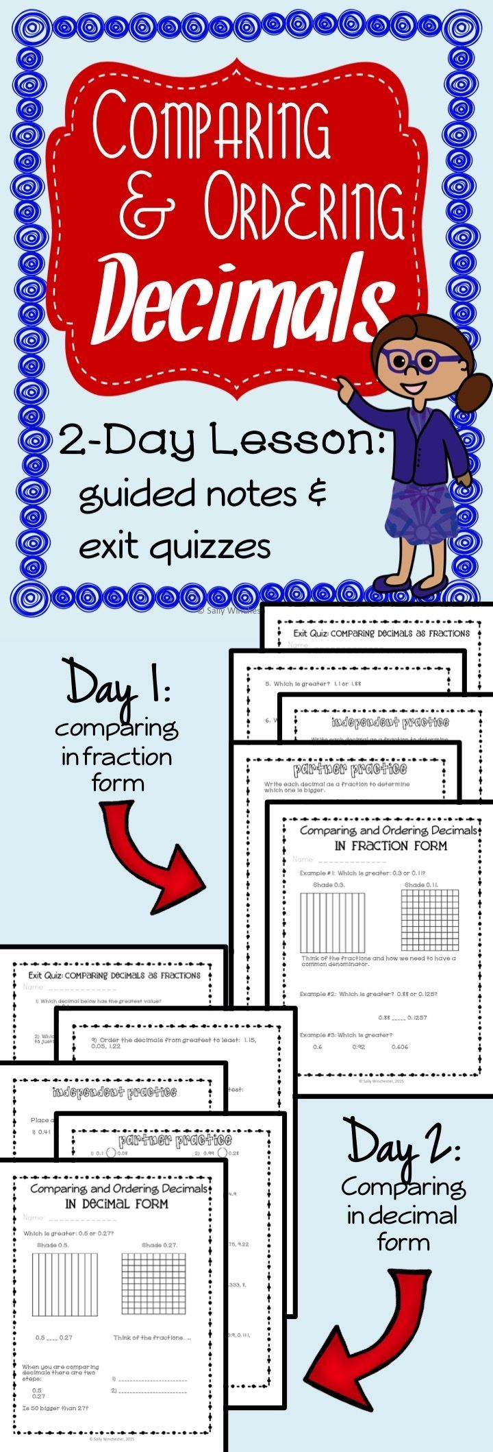 242 best Teaching Math: Decimals & Fractions images on Pinterest ...