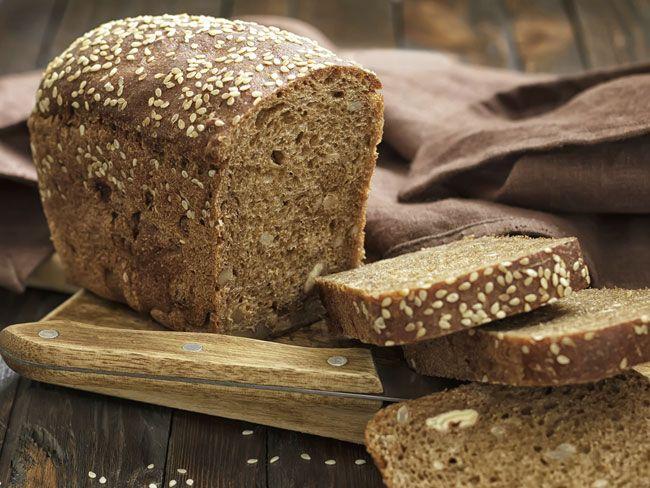 Brown Bread Recipe Breads with whole wheat flour, white flour, salt, baking soda, buttermilk, butter