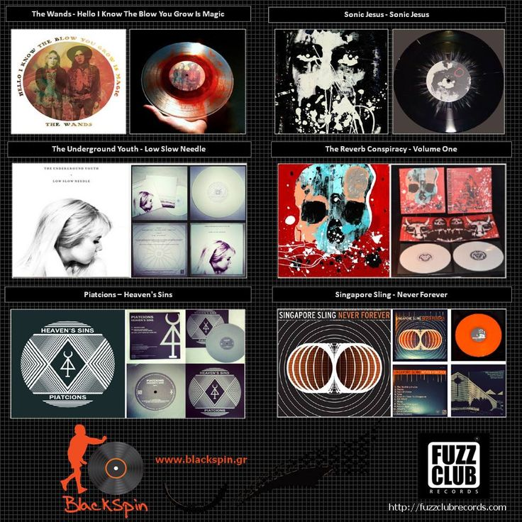 Blackspin presents the releases from Fuzz Club Records Part1