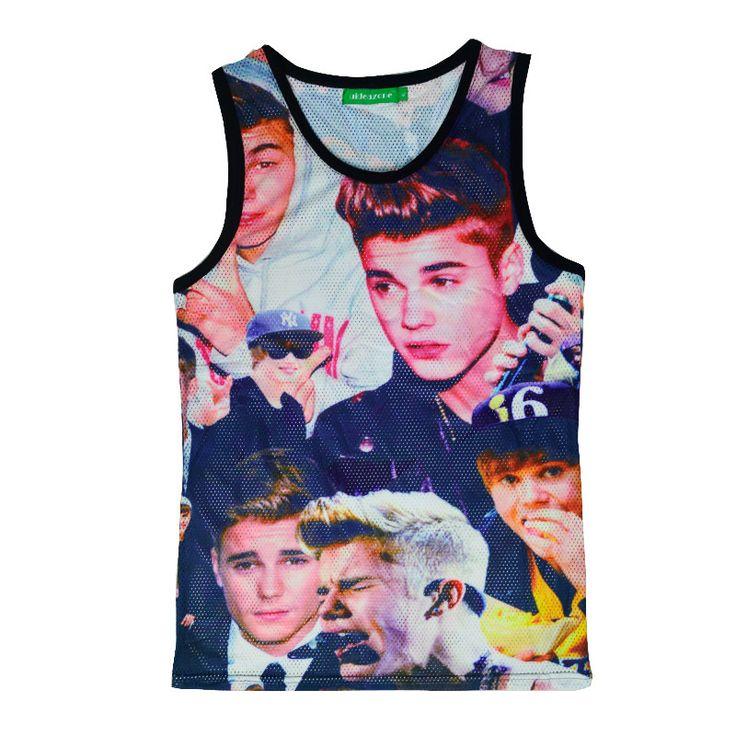 Famous Ginger Gym Shark Vest Justin Bieber 3D Print Boy Men Tank Top Sport Basketball Golds Gym Clothing Bodybuilding Camiseta