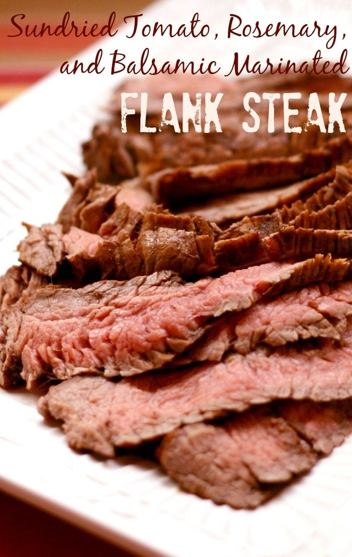 Sundried Tomato, Rosemary, and Balsamic Marinated Flank Steak - get ready for grilling season by tossing some beef on your grill! You'll need this recipe all summer! | cupcakesandkalechips.com | gluten free, paleo