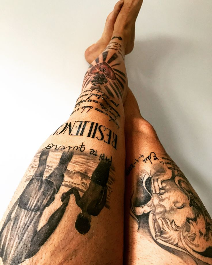Tatuaje pierna Hombre