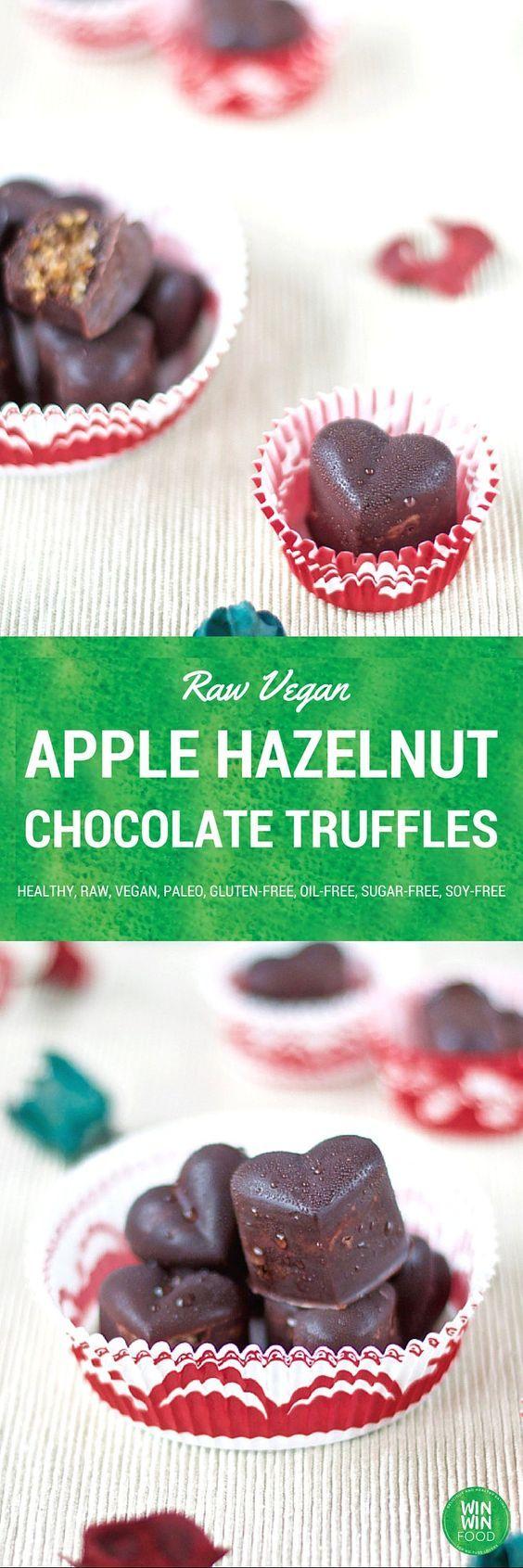 Apple Hazelnut Chocolate Truffles | WIN-WINFOOD.com indulgent, simple ...