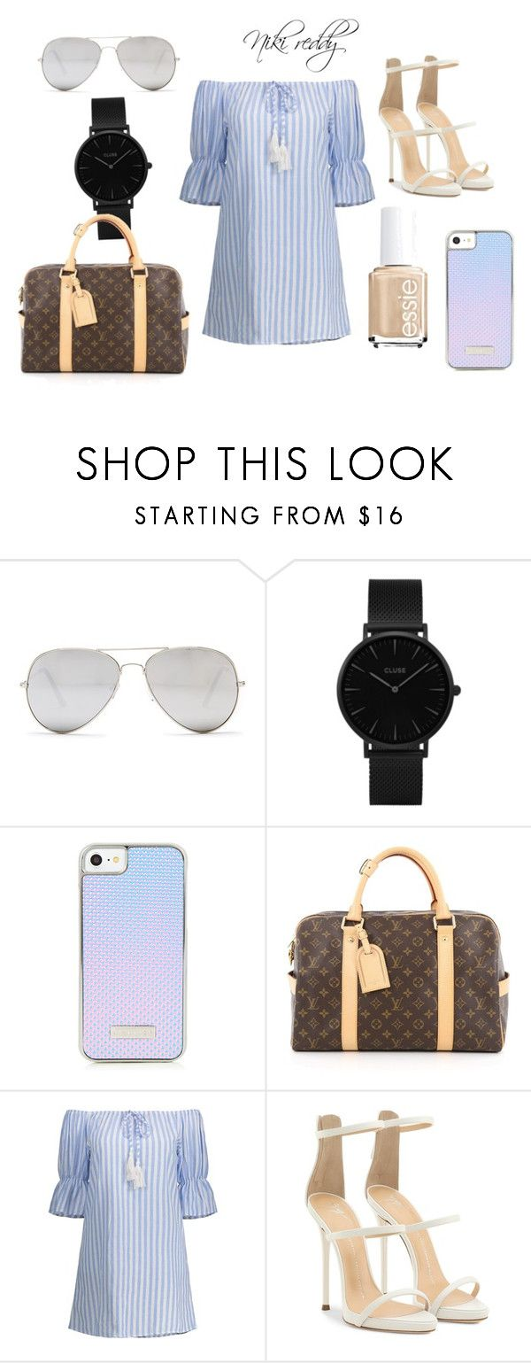 """""""Untitled #43"""" by nikireds on Polyvore featuring Sunny Rebel, CLUSE, Louis Vuitton and Giuseppe Zanotti"""