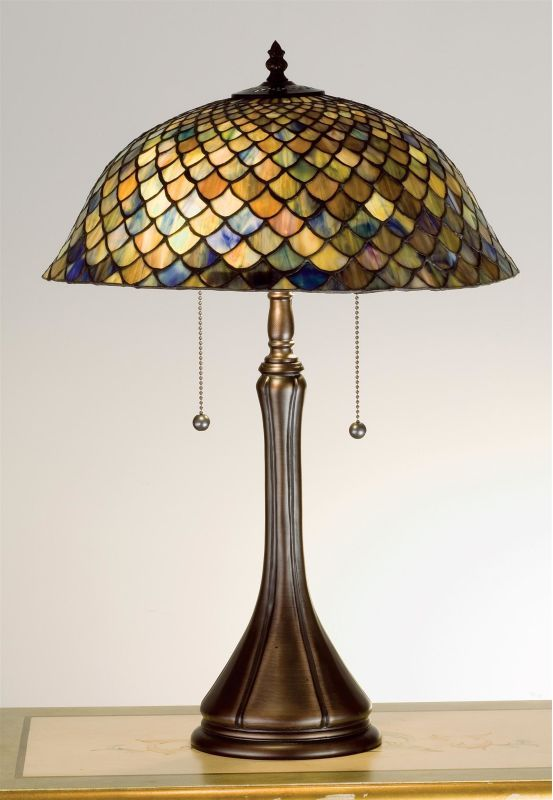 Meyda Tiffany 28369 Stained Glass / Tiffany Accent Table Lamp from the Tiffany F Tiffany Glass Lamps Table Lamps Accent Lamps