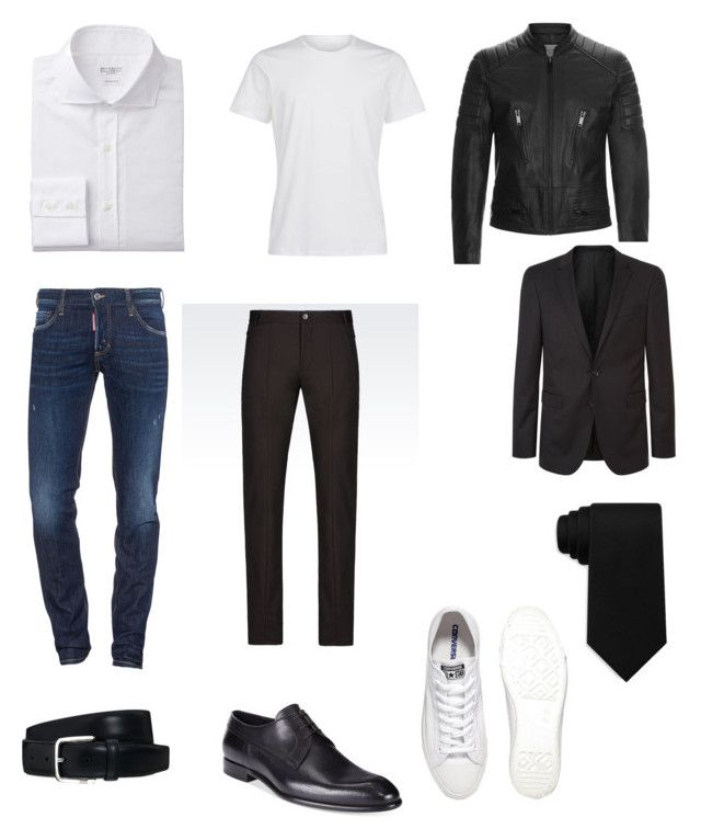 """""""Untitled #18"""" by fruzsina-sitku on Polyvore featuring Dsquared2, Sandro, BOSS Hugo Boss, Emporio Armani, Converse, Tod's, Tommy Hilfiger, HUGO, men's fashion and menswear"""