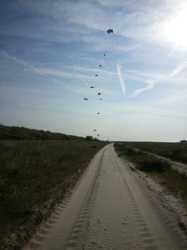Mooi vliegerweer op Schiermonnikoog