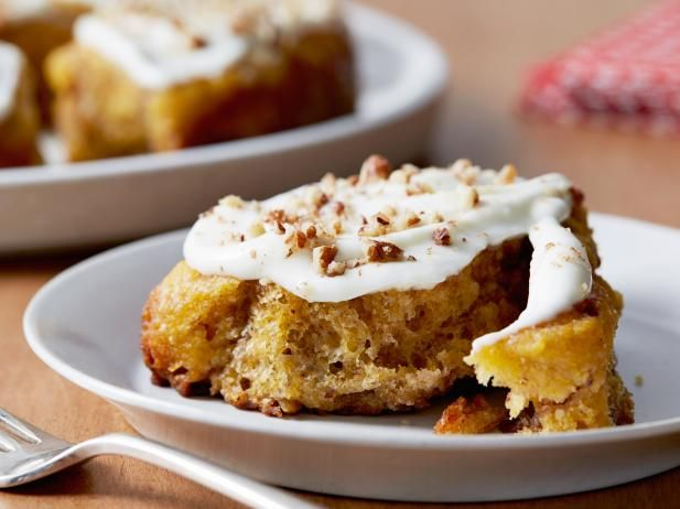 Get Pumpkin Cinnamon Rolls Recipe from Food Network