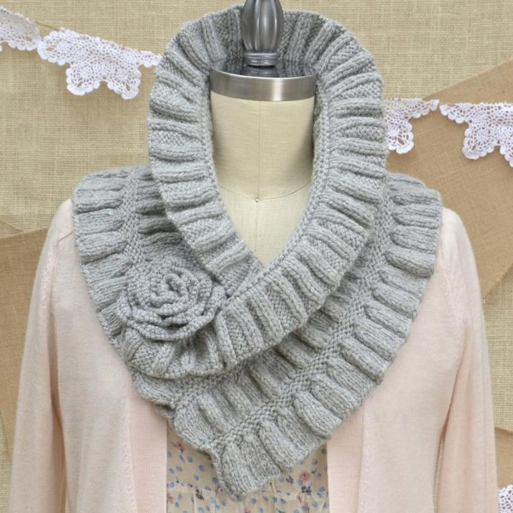 Ruched Cowl Knitting Pattern : Ruffled & Ruched Scarf knitting kit from Pam Powers Knits Knit Scarves ...