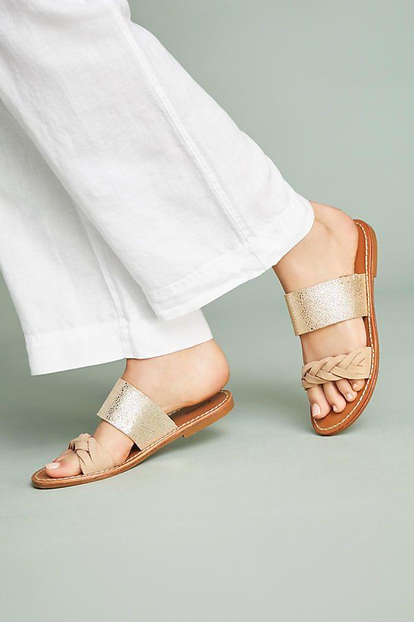 e7e5c21de4c5 Slide View  3  Soludos Metallic Braided Slide Sandals