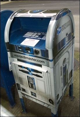 R2D2!!: Stars Wars And, Favorite Things, Lets It Snow, Aunts Michelle, Unique Mailbox, Boxes Makeovers, Geeky Things, Mail Boxes, R2D2 Mailbox