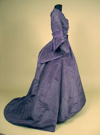 Silk Moire Reception Gown, Late 1860s