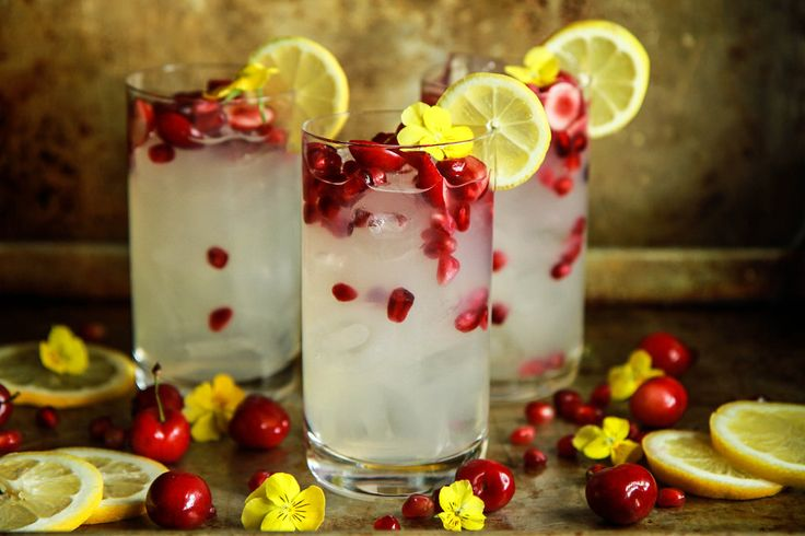 Cherry+Pomegranate+Ginger+Vodka+Lemonade