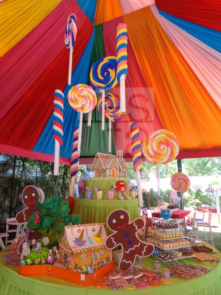 Decoraci n con dulces y caramelos fiesta tem tica de - Ideas decoracion fiestas ...
