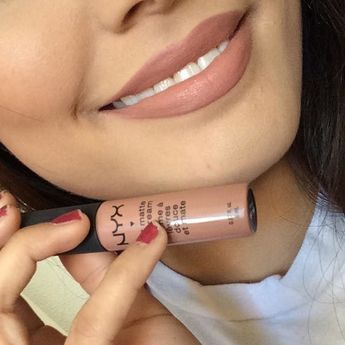 NYX Soft Matte Lip Cream in London is the most popular nude lipstick on Pinterest and its creamy liquid formula is matte without drying out your lips.