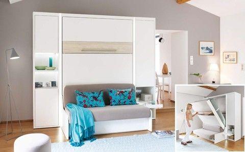 Epingle Par Poupette92 Sur Decoration Lit Escamotable Mobilier De Salon Meuble Celio