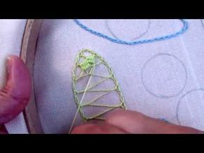 PIZZO MACRAME' RUMENO - POINT LACE : Punto di ricamo incrociato adatto a foglie e non solo...