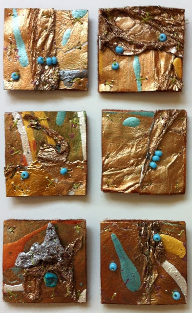 Distressed Tyvek Inchies (includes a great tutorial - can be done on a much larger scale)