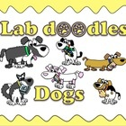 This clipart sets contain the following images in color and black and white. Dog breed in sitting and standing poses: •  Beagle •  Dalmatian •  Hus...