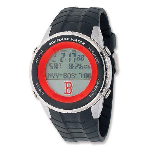 Mens MLB Boston Red Sox B Logo Schedule Watch Jewelry Adviser Mlb Watches. $100.00