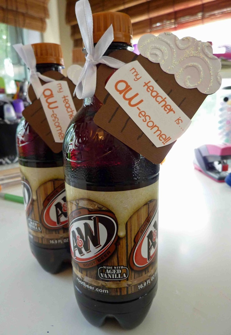 Cool Beans by L.B.: Teacher Gifts Part 3: Treats- I just did one bottle and had to add the fun float to the tag!