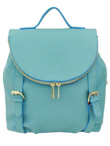 Backpacks: Landen Skyblue Artificial Leather Backpack - Korean Fashionista