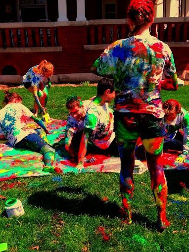 #messy_twister as a part of #summer_party_games