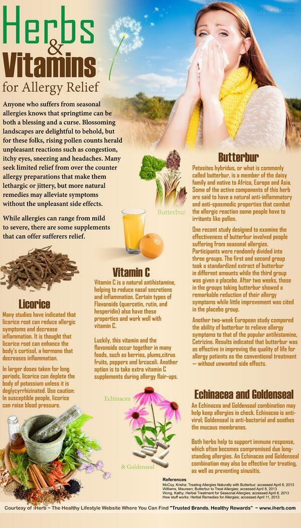 Herbs for weight loss Herbs and Vitamins for Allergy Relief (Pic) ---- & Bonus:  5 Herbs to Promote Your Weight Loss (Link)