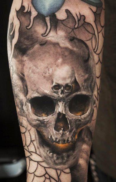 Tattoo Artist - Niki Norberg - skull tattoo | www.worldtattoogallery.com