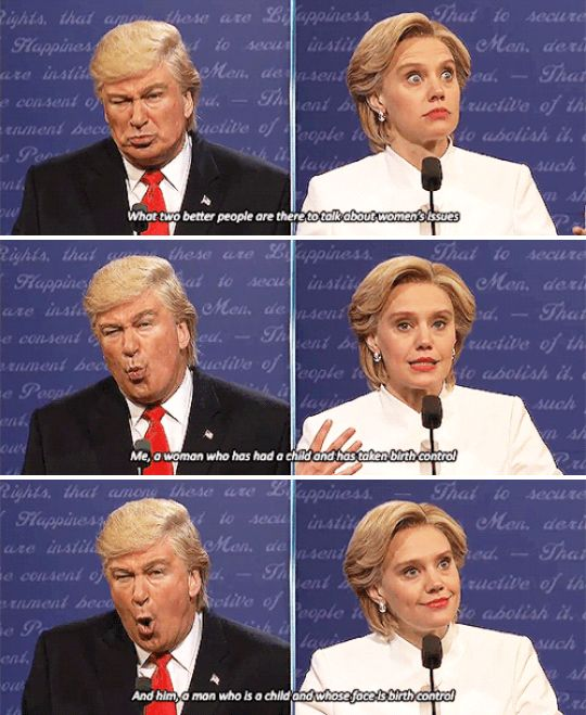 "And when they tackled women's issues. | 26 Times ""SNL"" Made This Election Slightly More Bearable"