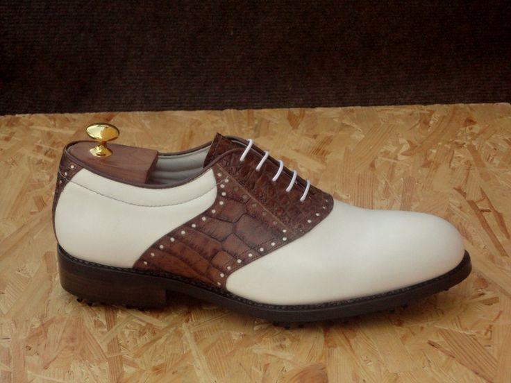 St. ANDREWS  scarpe da #golf realizzate con pregiato pellame di vitello pienofiore.