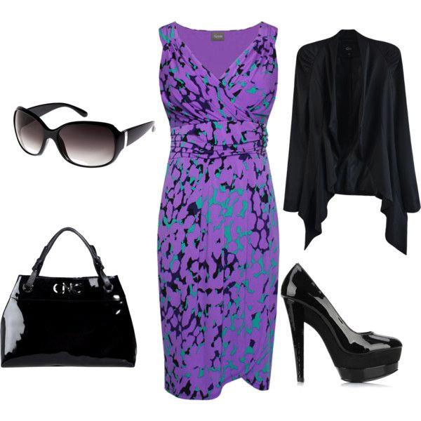 Purple, black and mint