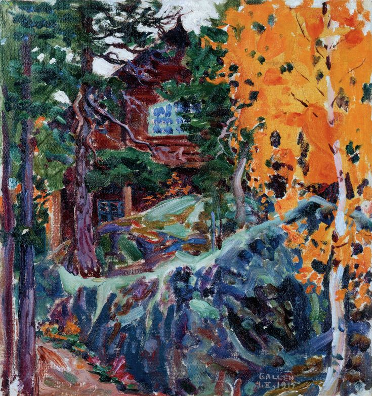 Kalela in Autumn Akseli Gallen-Kallela - 1915