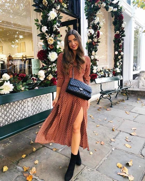 ba9f4f9f19e dress,midi dress,long sleeve dress,polka dots,slit dress,crossbody ...