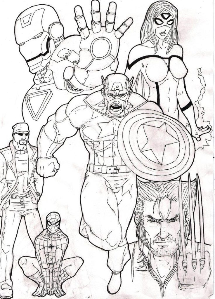 Coloring Pages: Avengers Coloring Pages Free Printable Avengers ...