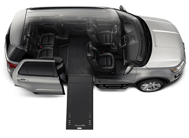 Diagram of the wheelchair-accessible Ford Explorer