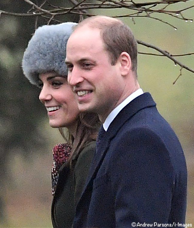 1/8/17. The Cambridges join the Queen and Middleton's for church service