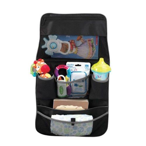 Un bel organisateur de voiture pour vous aider à tout ranger dans la voiture et permettre à l'enfant d'avoir ses affaires à portée de main, Il est très résistant et facile à nettoyer, Ses nombreux rangements compartimentés sont idéals pour ranger jouets, boissons, goûters et lingettes, Son système de fixation universel convient à la plupart des sièges arrière de véhicule et des poussettes, Il possède une grande poche sur le dessus avec une fermeture à glissière sécurisée, deux compartiments…