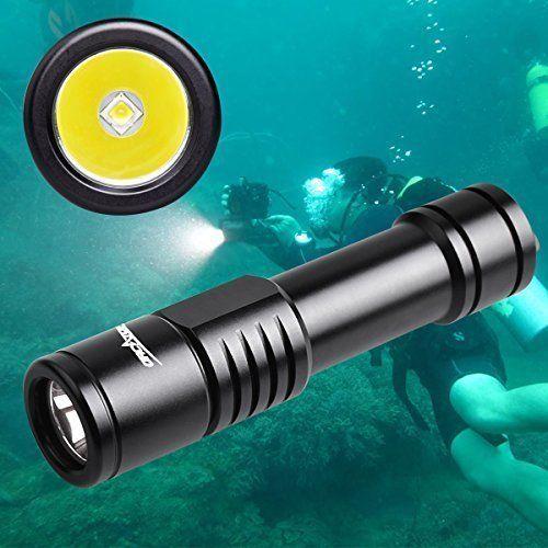 Flashlight Scuba Diving Spearfishing 150M LED Waterproof Underwater Batt Charger #FlashlightScubaDiving