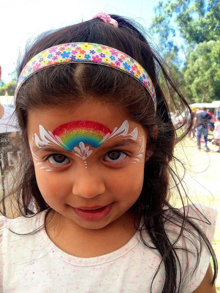 Sarah Asker    sweet simple rainbow one stroke design