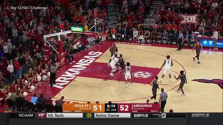 Oklahoma State vs Arkansas Men's Basketball Highlights