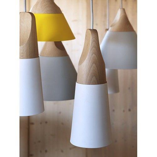 Slope lampade in legno con paralume in metallo di Miniforms